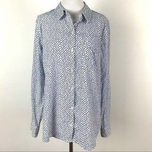 Gap factory womens top size M button down hearts